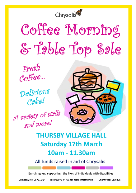 Coffee Morning and Table Top Sale