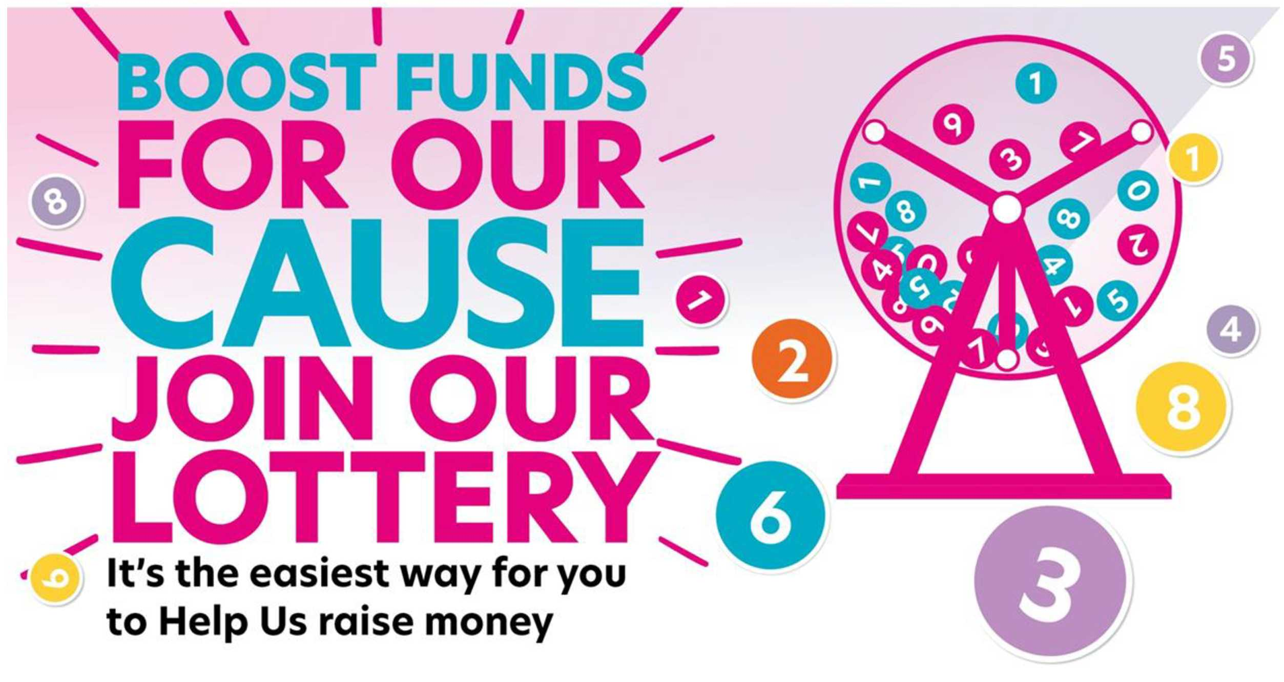 We have launched a Lottery.  The exciting New Way to Support Our Cause.